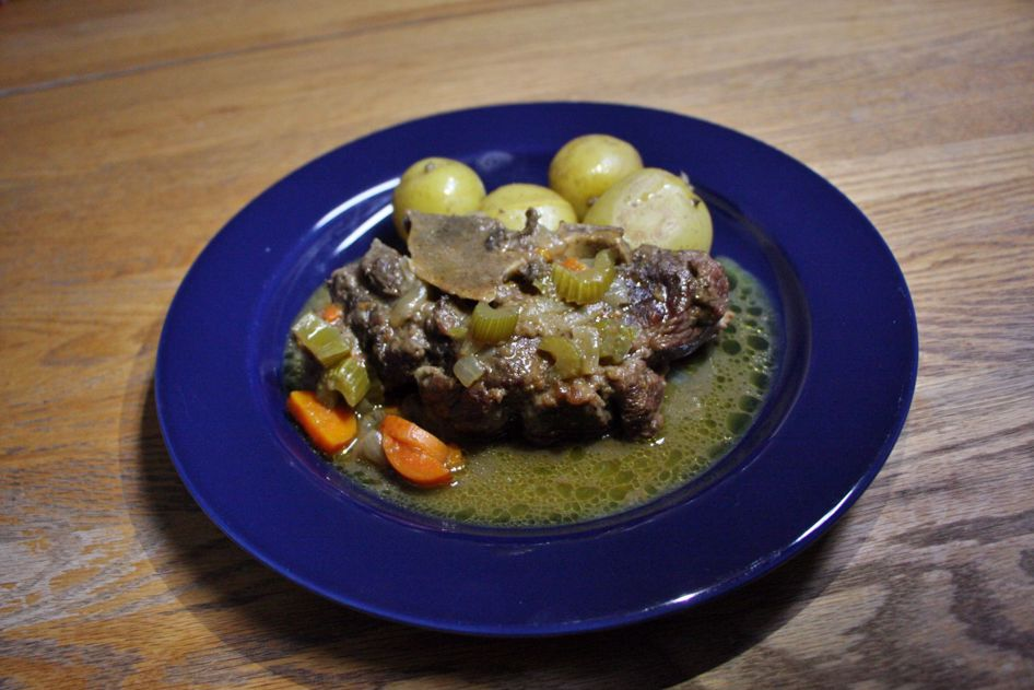 Ever heard of Osso Buco?  It is a super tasty and filling dish.